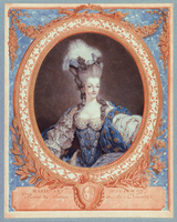 Marie Antoinette, Queen of France and Navarre (colour aquatint print)