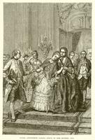 Marie Antoinette taking leave of her mother (engraving)