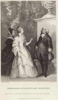Queen Marie Antoinette and Honore Gabriel Riqueti (engraving)