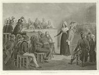 Marie Antoinette at the Revolutionary Tribunal (engraving)
