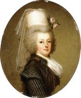 Portrait of Queen Marie Antoinette, 1793 (oil on panel)