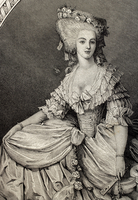 Princess Marie Louise of Savoy (1749-1792). Engraving.