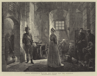 Marie Antoinette leaving her Prison for the Scaffold (engraving)