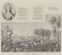 The Centenary of the Execution of Marie Antoinette, the Scene in the Place de la Revolution on the Morning of 16 October 1793 (e