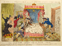 The Doctor Indulged with his Favourite Scene, 1790 (hand-coloured etching)