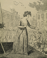 Marie Antoinette (1755-1793), Execution by Cruitshant (engraving)