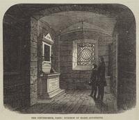 The Conciergerie, Paris, Dungeon of Marie Antoinette (engraving)