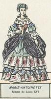Marie-Antoinette, Femme de Louis XVI (coloured engraving)