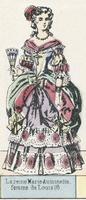 La reine Marie-Antoinette, femme de Louis 16 (coloured engraving)