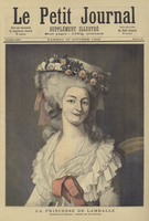 The Princess of Lamballe (colour litho)