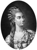 Francoise Marie Antoinette Saucerotte aka Melle Raucourt (1756-1815) French comedian, engraving