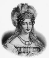 La duchesse d Angouleme, Marie Thererse Charlotte, fille de Louis XVI et de Marie Antoinette, nee a Versailles en 1778. Elle fut
