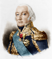 Francois Henri de Franquetot, Duke of Coigny (1737-1821) French marshal, engraving after Rouget colourized document
