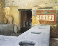 Italy, Campania Region, Pompei, Thermopolium in Via dell�fAbbondanza
