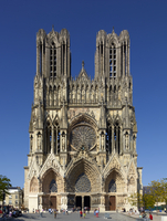 View of Reims Cathedral, Reims, France (photo) 22040249405| 写真素材・ストックフォト・画像・イラスト素材|アマナイメージズ