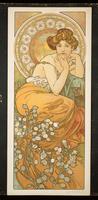 The Precious Stones: Topaz, 1900 (colour litho)