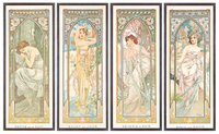 The Times of the Day; Les heures du jour (a set of four), 1899 (colour lithograph)