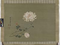Chrysanthemum, Edo Period, 1791 (ink & colour on silk)