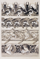 Study for plate 60 of 'Documents Decoratifs', 1902 (pencil with white on paper)