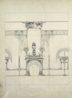 Design for the decor of the Fouquet jewellers, 6 rue Royale, Paris (pen & ink on paper)