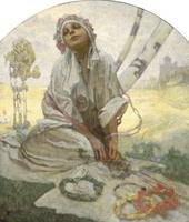 Bohemian Sun Dreamer (oil on canvas)