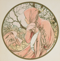 January, 1899 (colour litho) (detail of 176375)