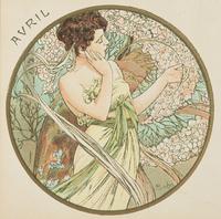 April, 1899 (colour litho) (detail of 176375)
