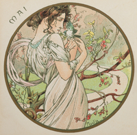 May, 1899 (colour litho) (detail of 176375)