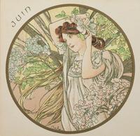 June, 1899 (colour litho) (detail of 176375) 22040249589| 写真素材・ストックフォト・画像・イラスト素材|アマナイメージズ