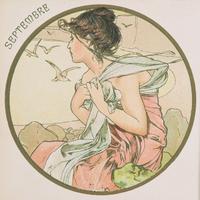 September, 1899 (colour litho) (detail of 176376) 22040249592| 写真素材・ストックフォト・画像・イラスト素材|アマナイメージズ