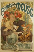 Meuse Beer; Bieres de La Meuse, 1897 (colour lithograph)