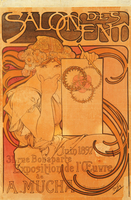 Salon des Cent, 1897 (colour litho)