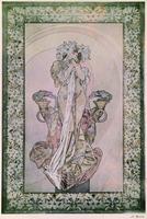 "Decorative Panel for Edmond Rostand's ""La Princesse Lointaine"" with Sarah Bernhardt (1844-1923), 1890-1910 (lithograph) 22040249605| 写真素材・ストックフォト・画像・イラスト素材|アマナイメージズ"