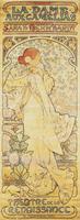 """""""La Dame aux Camelias"""", with Sarah Bernhardt, 1890-1910 (lithograph)"""