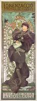"""""""Lorenzaccio"""", with Sarah Bernhardt, at the Renaissance at the Theatre de la Renaissance (poster), 1896 (lithograph)"""
