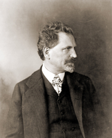 Portrait of Alfons Mucha, 1906 (b/w photo)