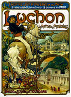 Poster for Trains to Luchon, France, 1895 (colour litho)