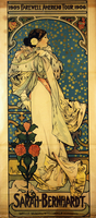A poster for Sarah Bernhardt's Farewell American Tour, 1905-1906, c.1905 (colour lithograph)
