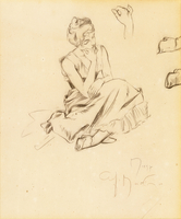 Study of a Seated Woman, 1897 (pencil on paper)