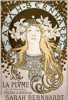 La Plume', featuring Sarah Bernhardt, 1896 (lithograph in colours) 22040249636| 写真素材・ストックフォト・画像・イラスト素材|アマナイメージズ