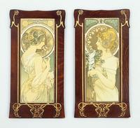 The Primrose and the Quill; le Printemps et la Plume, 1899 (colour lithograph, wooden frame)