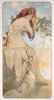 Summer; Ete, c.1896 (lithograph in colours)