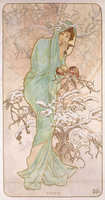 Winter; Hiver, c.1896 (lithograph in colours)