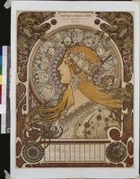 Zodiac, Grand Bazar & Nouvelles Galeries, Tours, 1896 (lithograph in colours)