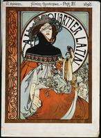 Au Quartier Latin, 1898 (lithograph in colours)