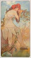 The Seasons: Summer, 1896 (colour litho)