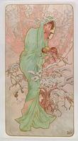 The Seasons: Winter, 1896 (colour litho)