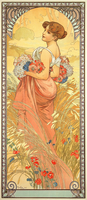 Summer, The Seasons, 1900 (colour litho)