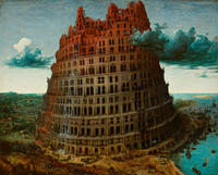 The Tower of Babel, c.1565 (oil on wood panel)