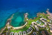 Hawaii,Maui,Kapalua,Aerial of Ritz-Carlton residences.